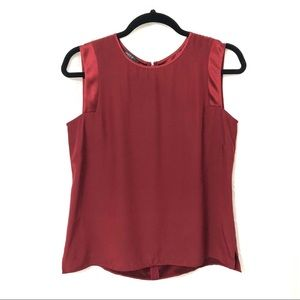 Lafayette 148 Red Silk Shell Sleeveless Blouse 4